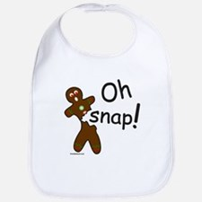 GINGERBREAD MAN OH SNAP Bib