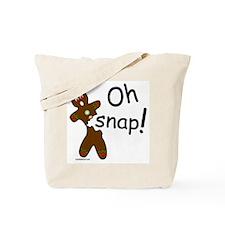GINGERBREAD MAN OH SNAP Tote Bag