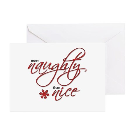 More Naughty than Nice Greeting Cards (Pk of 20)