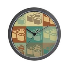 Sushi Pop Art Wall Clock