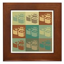 Sushi Pop Art Framed Tile