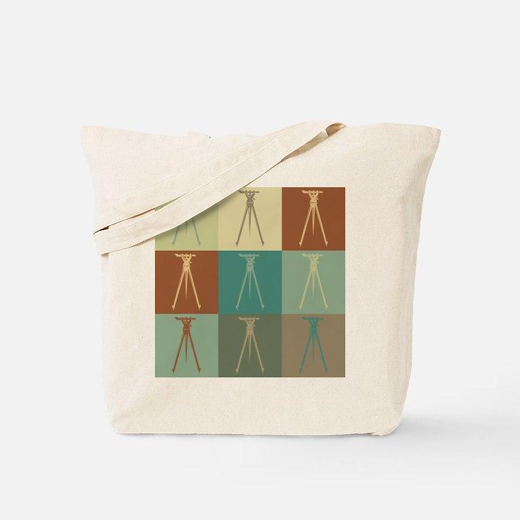 Surveying Pop Art Tote Bag