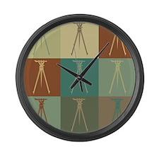 Surveying Pop Art Large Wall Clock