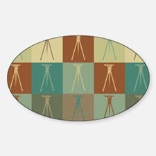 Surveying Pop Art Oval Decal