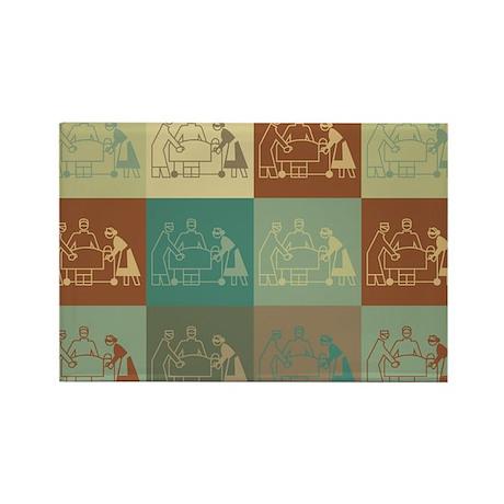 Surgery Pop Art Rectangle Magnet (100 pack)