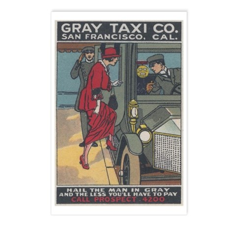 San Francisco: Gray Taxi Postcards (Package of 8)
