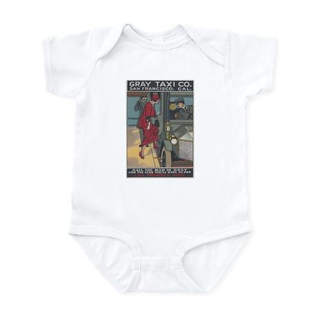 San Francisco: Gray Taxi Infant Bodysuit
