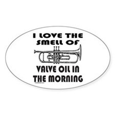 TRUMPET PLAYER Oval Decal