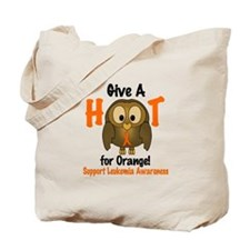 Give A Hoot 3 LEUKEMIA Tote Bag