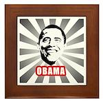 Obama Poster Framed Tile