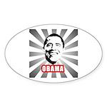 Obama Poster Oval Sticker
