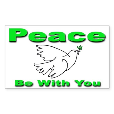 Peace Be With You Rectangle Sticker