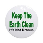 Keep the Earth Clean Keepsake (Round)
