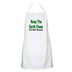 Keep the Earth Clean BBQ Apron