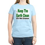 Keep the Earth Clean (Front) Women's Pink T-Shirt