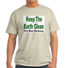 Keep the Earth Clean Ash Grey T-Shirt