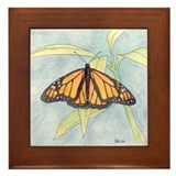 Monarch butterfly Framed Tiles