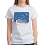 Rabbit in Winter snow Women's T-Shirt