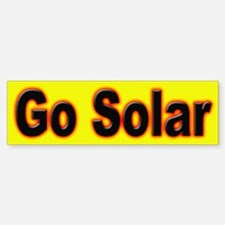 Go Solar Bumper Sticker for a clean environment