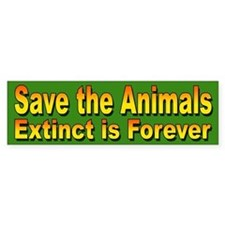 Save the Animals from Extinction Bumper Bumper Sticker
