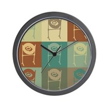 Steel Drums Pop Art Wall Clock