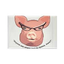 Lipstick on a Pig Rectangle Magnet