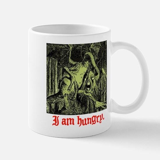 I AM HUNGRY. Mug