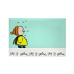 let it snow! Rectangle Magnet (10 pack)