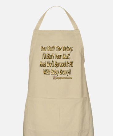 Stuff Turkey, Muff, Gravy BBQ Apron