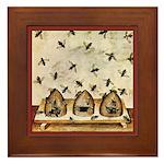Vintage Bees (ts) Framed Tile