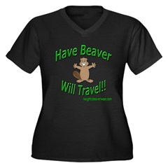 Have Beaver Will Travel Women's Plus Size V-Neck D