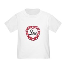Chain of Love Hearts (Front) T