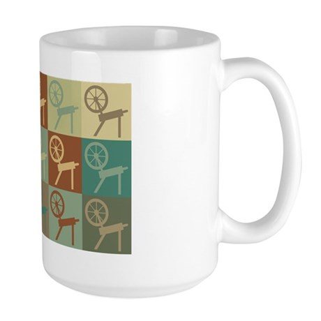 Spinning Pop Art Large Mug