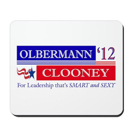 Olbermann Clooney 2012 Mousepad