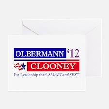 Olbermann Clooney 2012 Greeting Cards (Pk of 10)