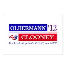 Olbermann Clooney 2012 Postcards (Package of 8)