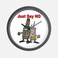 Say No to Drugs and Booze Wall Clock