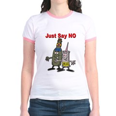 Say No to Drugs and Booze Jr. Ringer T-shirt