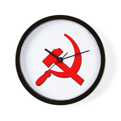 Soviet Retro Hammer and Sickle Wall Clock