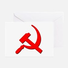 Soviet Retro Hammer and Sickle Greeting Cards (Pac