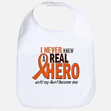 Never Knew A Hero 2 ORANGE (Aunt) Bib
