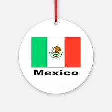 Mexico Mexican Flag Keepsake (Round)