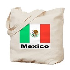 Mexico Mexican Flag Tote Bag