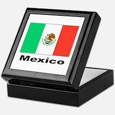 Mexico Mexican Flag Keepsake Box