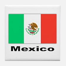 Mexico Mexican Flag Tile Coaster