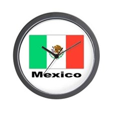 Mexico Mexican Flag Wall Clock