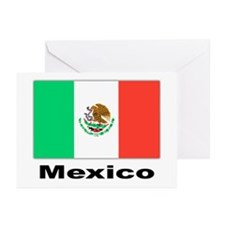 Mexico Mexican Flag Greeting Cards (Pk of 10)