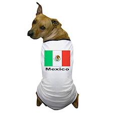 Mexico Mexican Flag Dog T-Shirt