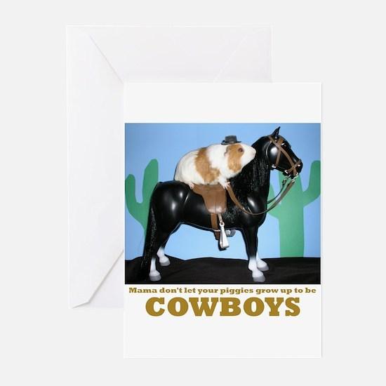 Guinea Pig Cowboys! Greeting Cards (Pk of 10)
