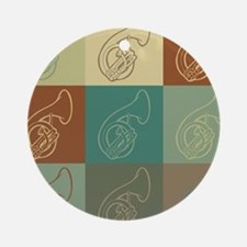 Sousaphone Pop Art Ornament (Round)